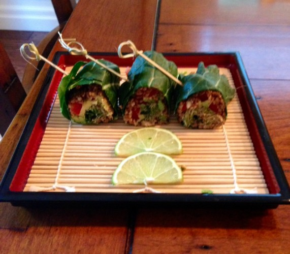raw collard wraps dressed up
