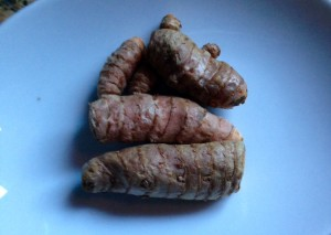 fresh tumeric root is available in produce section of natural food grocery stores
